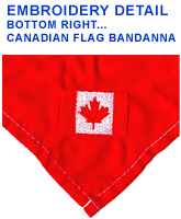 Canadian Flag Embroidery